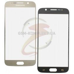 Стекло корпуса для Samsung G920F Galaxy S6, золотистое, 2.5D