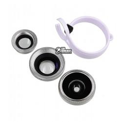 Линза BASEUS Mini lens Series на камеру смартфонов и планшетов , Серебрянный
