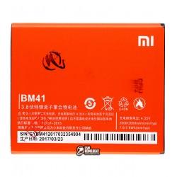 Аккумулятор BM41 для мобильного телефона Xiaomi Red Rice 1S, Li-Polymer, 3,8 В, 2000 мАч