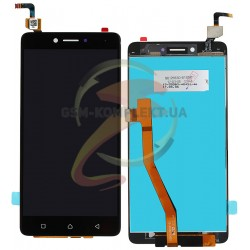 Дисплей для Lenovo K6 Note (K53a48), черный, с сенсорным экраном (дисплейный модуль)