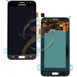 Дисплей для Samsung J320H/DS Galaxy J3 (2016), черный, с сенсорным экраном (дисплейный модуль),original (PRC)