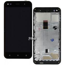 Дисплей для Nomi i5530 Space X, черный, с сенсорным экраном (дисплейный модуль),с рамкой, original