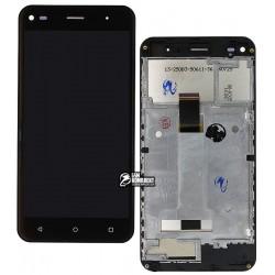 Дисплей для Nomi i5030 Evo X, черный, с сенсорным экраном (дисплейный модуль),с рамкой, original