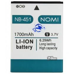 Аккумулятор (акб) NB-46 для Nomi i451 Twist, Li-ion, 3,7 В, 1700 мАч, original