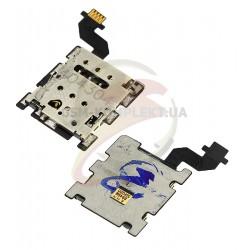 Коннектор SIM-карты для HTC One M8, One M8s, для одной SIM-карты, со шлейфом