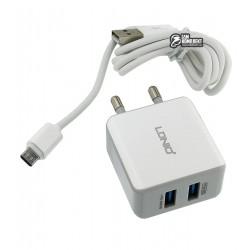 Сетевое зарядное устройство Ldnio DL-AC-200 c Micro USB 5V/2.1A (обновленная упаковка)