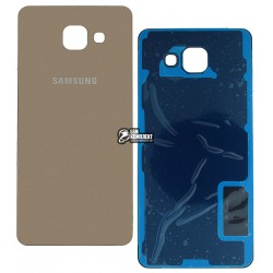 Задняя панель корпуса для Samsung A510F Galaxy A5 (2016), золотистая