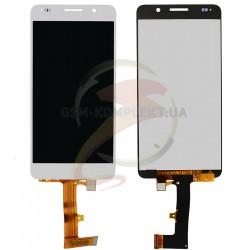 Дисплей для Huawei Honor 6 H60-L02, белый, с сенсорным экраном (дисплейный модуль)