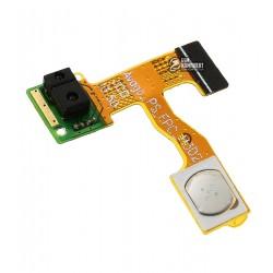 Шлейф для Lenovo A850, кнопки включения, c датчиком приближения, с компонентами