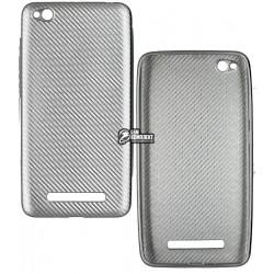 Чехол защитный для Xiaomi Redmi 4a, силиконовый, карбон
