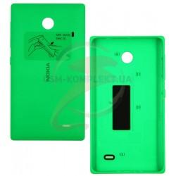 Задняя панель корпуса для Nokia X Dual Sim, зеленая, с боковыми кнопками