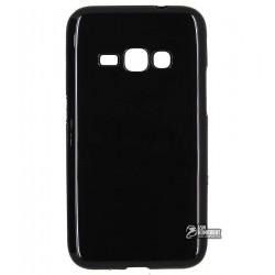 Чехол защитный для Samsung J120H Galaxy J1 (2016), силиконовый, черный
