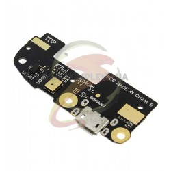 Шлейф для Asus ZenFone 2 (ZE550CL), микрофона, коннектора зарядки, с компонентами