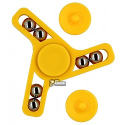 Спиннер с шариками, желтый