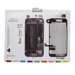 Магнитный мат Mechanic iP7 для раскладки винтов и запчастей ( для iPhone 7 )