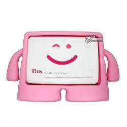 """Чехол защитный для Apple iPad Air, Air2, Pro 9,7"""", силиконовый, с ручками, для детей, розовый"""