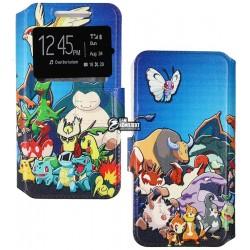 Чехол книжка универсальный Pokemon для телефона 4,3 дюйма