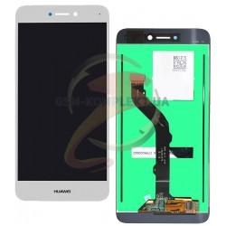 Дисплей для Huawei P8 Lite 2017, белый, с сенсорным экраном