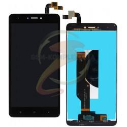 Дисплей для Xiaomi Redmi Note 4X, черный, с сенсорным экраном, original (PRC)