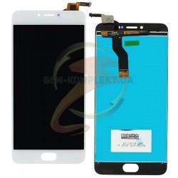 Дисплей для Meizu M3 Note, белый, с сенсорным экраном, 30 pin, original (PRC), L681H