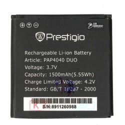 Аккумулятор (акб) для Prestigio MultiPhone 4040 Duo, (Li-ion 3.7V 1500mAh)
