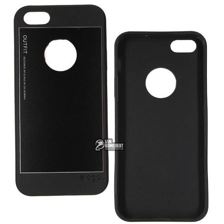 Чехол защитный Elago для Apple iPhone 5/5s, силикон + пластик, черный
