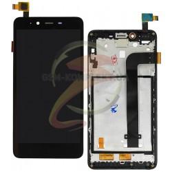 Дисплей для Xiaomi Redmi Note 2, черный, с сенсорным экраном (дисплейный модуль),с передней панелью, original (PRC)