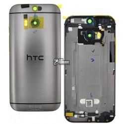 Задняя панель корпуса для HTC One M8, серая