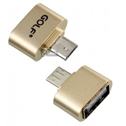 Переходник с USB (female) на Micro-USB (male), Golf GS-31