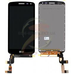 Дисплей для LG K5 X220 Dual Sim, черный, с сенсорным экраном (дисплейный модуль)
