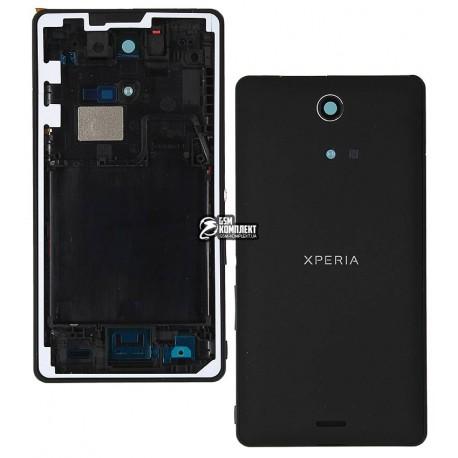Корпус для Sony C5502 M36h Xperia ZR, C5503 M36i Xperia ZR, черный