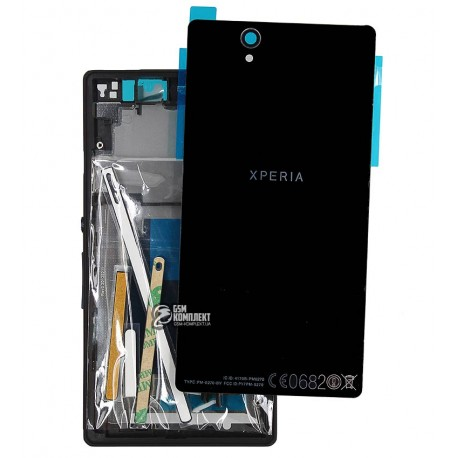Корпус для Sony C6602 L36h Xperia Z, C6603 L36i Xperia Z, C6606 L36a Xperia Z, чорний