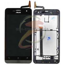 Дисплей для Asus ZenFone 5 (A500CG), ZenFone 5 (A500KL), ZenFone 5 (A501CG), черный, с сенсорным экраном (дисплейный модуль),с п