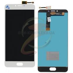 Дисплей для Meizu U20, белый, с сенсорным экраном (дисплейный модуль)