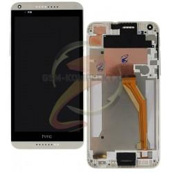 Дисплей для HTC Desire 816, белый, с передней панелью, с сенсорным экраном (дисплейный модуль),желтый шлейф