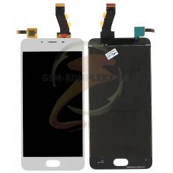 Дисплей для Meizu U10, белый, с сенсорным экраном (дисплейный модуль)