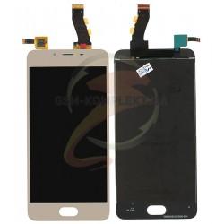 Дисплей для Meizu U10, золотой, с сенсорным экраном (дисплейный модуль)