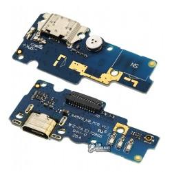 Шлейф для Asus ZenFone Go (ZC500TG), микрофона, коннектора зарядки, с компонентами