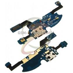Шлейф для Samsung I9190 Galaxy S4 mini, I9192 Galaxy S4 Mini Duos, I9195 Galaxy S4 mini, конектора зарядки, мікрофону, з компоне