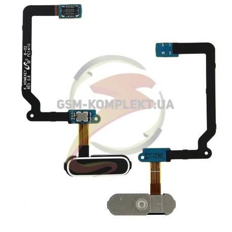 Шлейф для Samsung G900F Galaxy S5, G900H Galaxy S5, чорний, кнопки меню, з компонентами