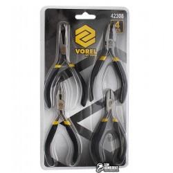 Набор Vorel 42308 пласкогубцы, кусачки, длинногубцы, длинногубцы изогнутые, 125 мм