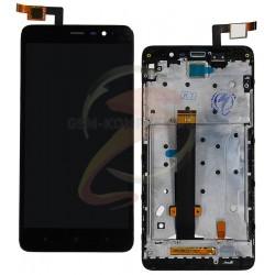 Дисплей для Xiaomi Redmi Note 3 Pro, черный, с сенсорным экраном (дисплейный модуль),с рамкой, original (PRC)