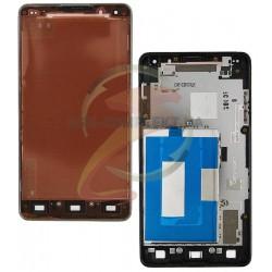 Рамка крепления дисплея для LG E975 Optimus G, серая