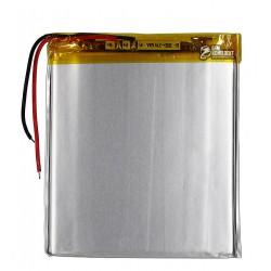 Аккумулятор универсальный (акб), для телефона, планшета, GPS, 80 мм, 73 мм, 3,4 мм, Li-ion, 3,7 В, 2100 мАч