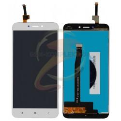 Дисплей для Xiaomi Redmi 4X, белый, с сенсорным экраном, original (PRC)