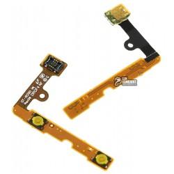 Шлейф для Samsung I9200 Galaxy Mega 6.3, I9205 Galaxy Mega 6.3, бокових клавіш, з компонентами