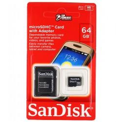 Карта памяти 64 Gb microSDHC SanDisk, class 10, UHS