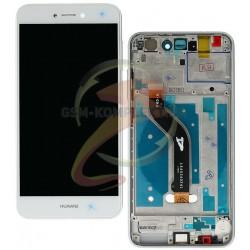 Дисплей для Huawei P8 Lite 2017, белый, с рамкой, с сенсорным экраном