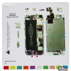 Магнитный коврик для ремонта iPhone 5s, с картой винтов и запчастей