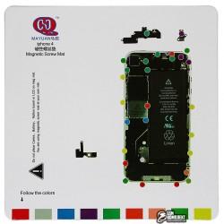 Магнитный коврик для ремонта iPhone 4, с картой винтов и запчастей